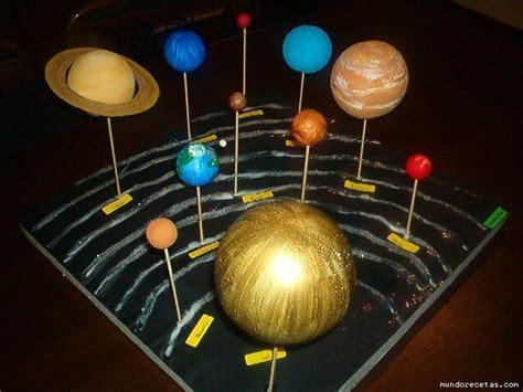 maqueta sistema solar y sus planetas imagui