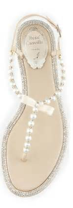 wedding shoes sandals pearl adorned bridal sandals onewed