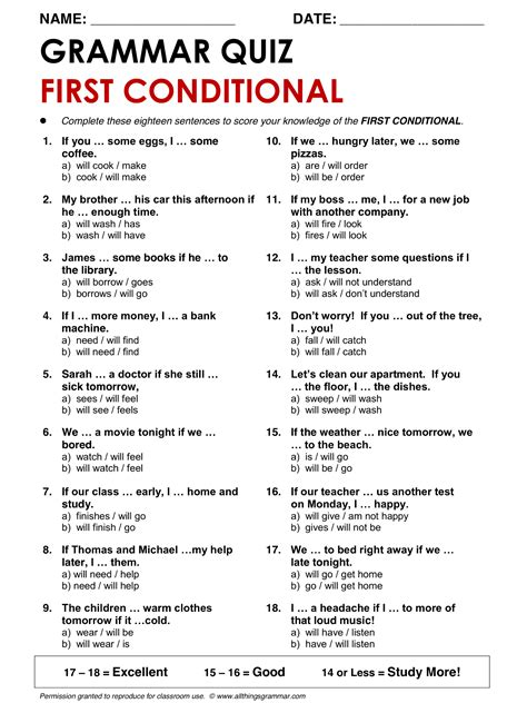 English Grammar First Conditional Wwwallthingsgrammarcomfirstconditionalhtml English