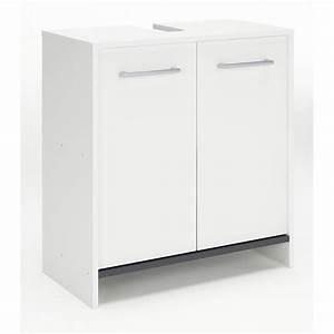 Meuble Sous Lavabo But : meuble sous lavabo x x cm blanc nerea ~ Dode.kayakingforconservation.com Idées de Décoration