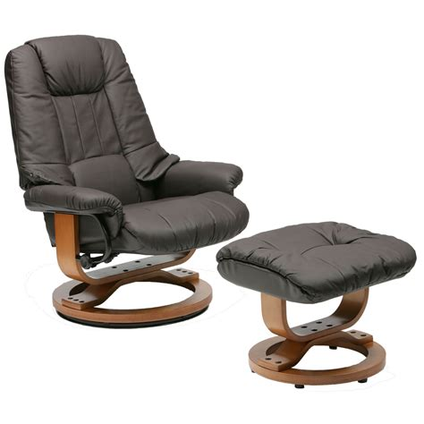 leather chair with ottoman leather swivel recliner ottoman dark brown swivel