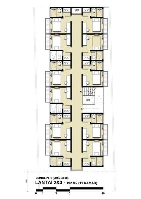 photo denah rumah kost benhil  desain arsitek oleh indra