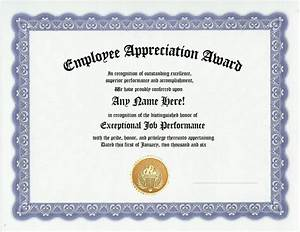 employee appreciation award certificate office job work With employee recognition awards templates