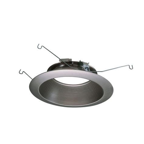 home depot recessed lighting trim halo 6 in satin nickel recessed lighting led baffle trim
