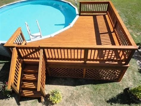 build  deck   pool youtube