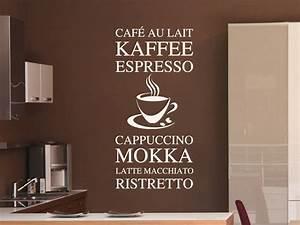 Latte Macchiato Wandfarbe : modernes wandtattoo kaffee variationen von ~ Pilothousefishingboats.com Haus und Dekorationen