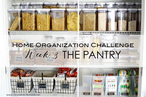 Ideas For Organizing Kitchen Pantry - home organizing challenge week 3 the pantry a bowl full of lemons