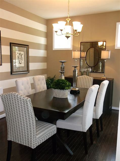 dining rooms  snazzy striped accent walls