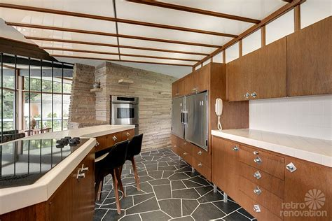 mid century modern kitchen flooring stunning spectacular 1961 mid century modern time capsule 9165