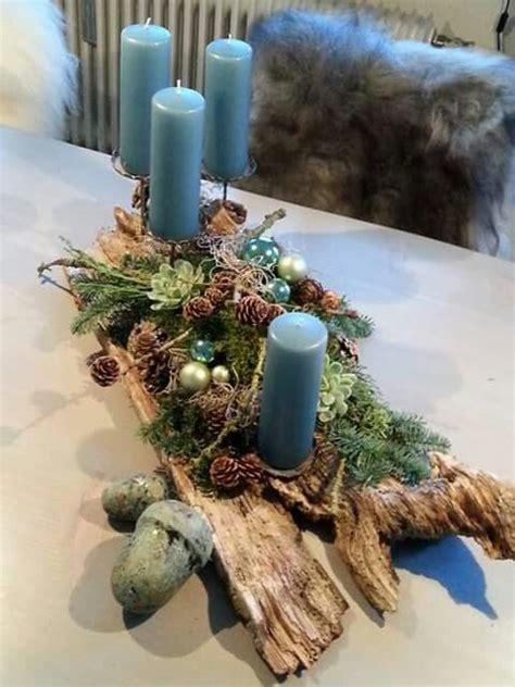 centros de mesa navidenos azules decoracion de