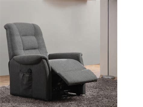 canapé mousse polyuréthane fauteuil releveur électrique en tissu 2 coloris nerudo