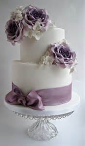 Lilac Rose Wedding Cake