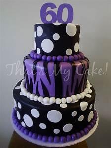 Purple and Black Birthday Cake | That's My Cake!