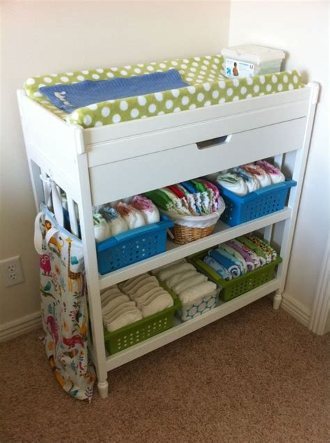 changing table organization ideas awesome organization of cloth diaper changing table some