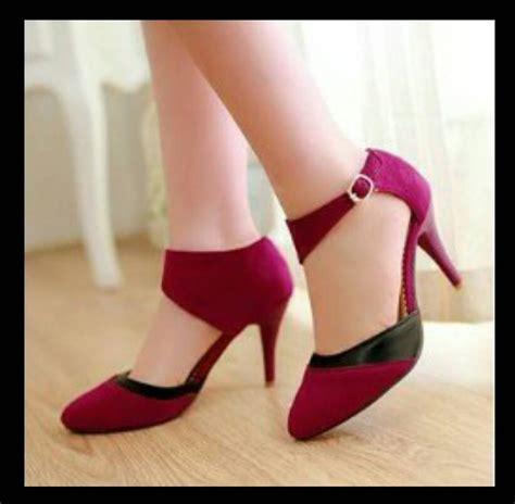 Sepatu High Heels Glitter Wanita jual sepatu heels wanita cantik s0034heels wr merah