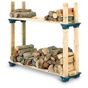 Lumber Storage Rack Plans Free by 2 Pk Firewood Rack Kit 102237 Yard Amp Garden At