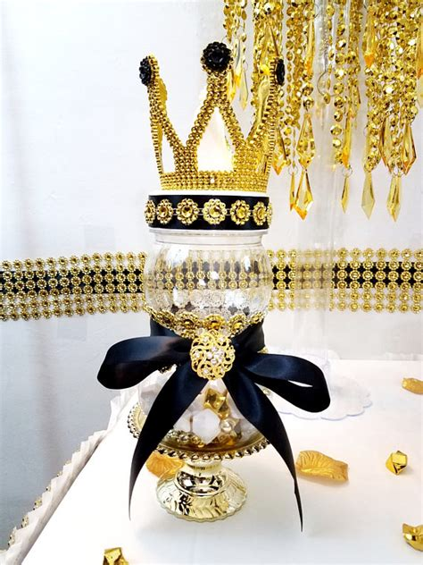 black and gold baby shower black and gold prince princess crown baby shower