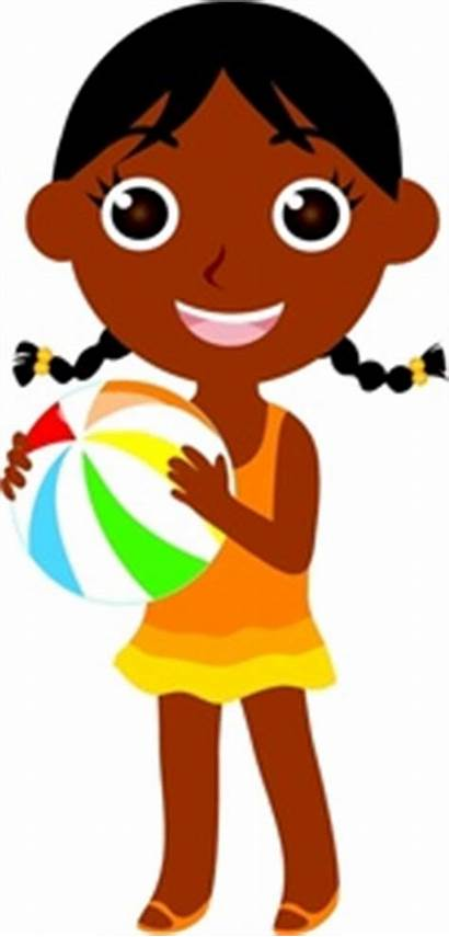 Clipart African American Child Ball Clip Swimming