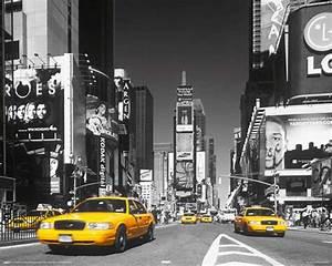 Wand Poster New York : new york times square yellow cab mini poster 50x40 ~ Markanthonyermac.com Haus und Dekorationen