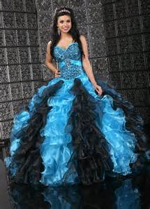 gallery for gt baby blue and black quinceanera dresses