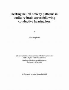 Pdf  Resting Neural Activity Patterns In Auditory Brain Areas Following Conductive Hearing Loss