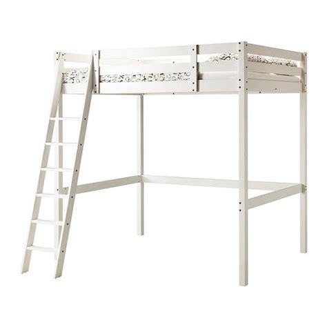 stor 197 structure lit mezzanine teint 233 blanc ikea