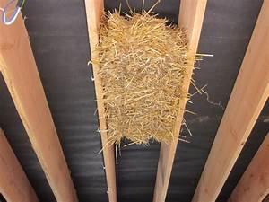 Toit En Paille : isolation toiture par dessous en paille et chaux ~ Premium-room.com Idées de Décoration