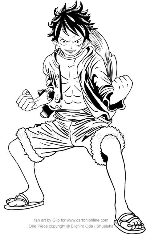 disegni da colo disegno di monkey d rufy di one da colorare