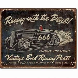 Plaque Vintage Metal : plaque publicitaire evil racing vintage us way of life ~ Teatrodelosmanantiales.com Idées de Décoration