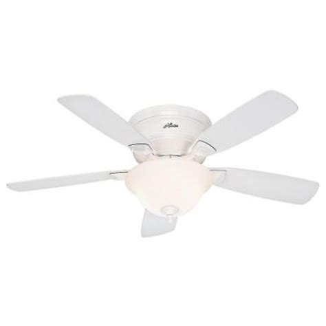 Low Profile Ceiling Fan Home Depot by Low Profile 48 In White Ceiling Fan 52062 The