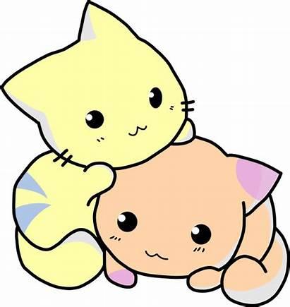 Clip Clipart Cartoon Cat Cats Kittens Vector