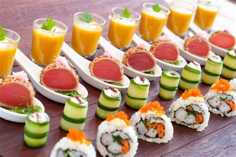 canapé buffet froid chef brendan catering canapes sushi seared tuna goats