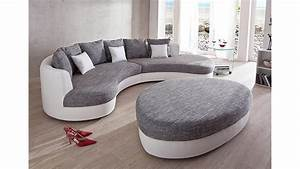 Lowboard Weiß Grau : wohnlandschaft limoncello sofa polsterm bel in wei grau ~ Orissabook.com Haus und Dekorationen
