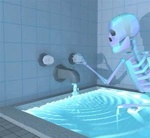 Squelette eau baignoire salle de bain halloween image gif for Pour salle de jeux 3 squelette eau baignoire salle de bain halloween image gif