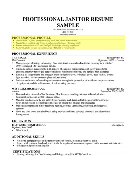 examples of professional profile on resume examples of profiles for resumes resume examples 2017