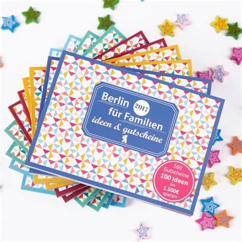 familien ideen gutscheinbuch berlin f 252 r familien ideen gutscheine 5062