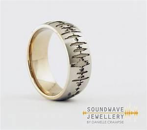 men39s custom soundwave wedding ring create a With music wedding rings