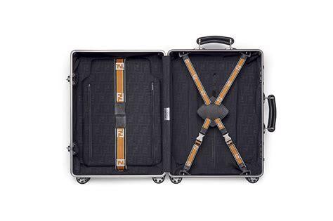 FENDI collaborates with RIMOWA on new aluminum suitcase