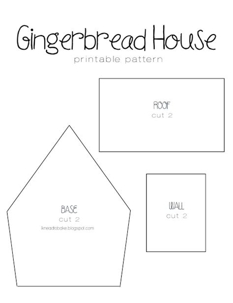 knead  bake gingerbread recipe printable house template