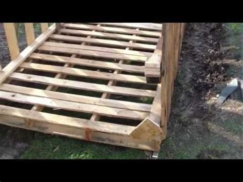 Cheap Shed Base Ideas by How To Build Free Or Cheap Shed From Pallets Diy Garage