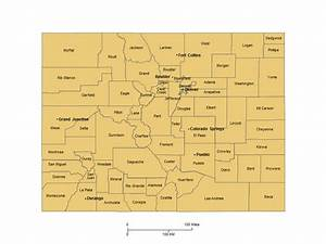 Colorado Counties, Major Cities PowerPoint Map – Maps for ...