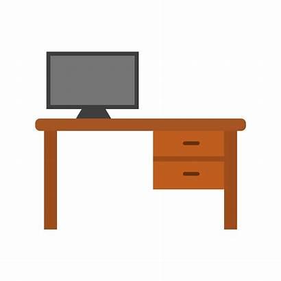 Vector Table Office Icon Desk Computer Clipart