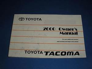 2000 Toyota Tacoma Owners Manual Book
