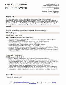 Special Skills And Abilities For Resume Shoe Sales Associate Resume Samples Qwikresume