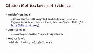 Gather evidence to demonstrate the impact of your research