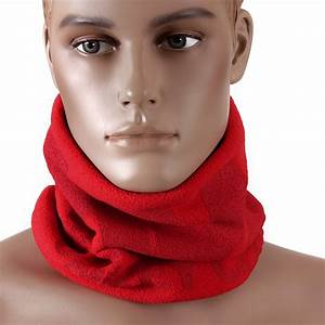 Shop for Mens Neck Warmer Snood Scarf in Red by RMC