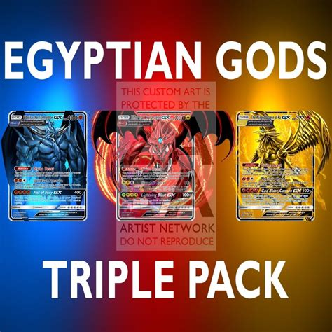 Rush deal uses a completely different set of cards and new. Egyptian Gods Triple Pack (Pokemon Yu-Gi-Oh! God Card Crossover) Custo - ZabaTV