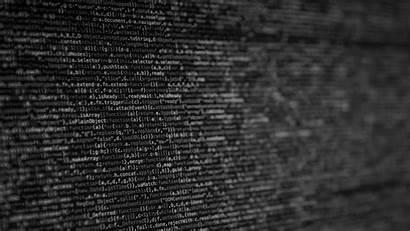 Programming Computer Code Development Blurred Monochrome Monitor