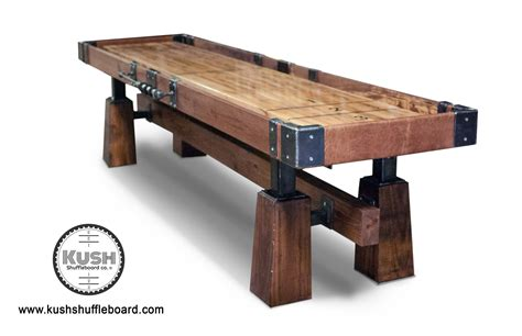 rustic table l rustic shuffleboard table the industrial farmhouse