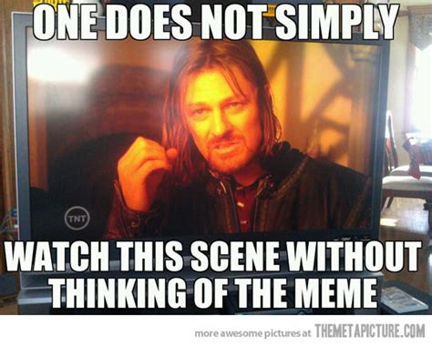Meme Documentary - every time i watch lord of the rings the meta picture